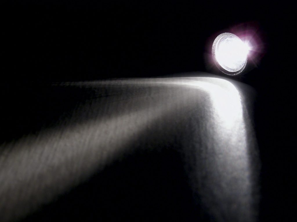 lighting flashlight